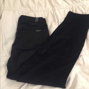 7 for all mankind black velvet pants